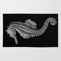 seahorse Area & Throw Rugs featuring Seahorse by Tim Jeffs Art