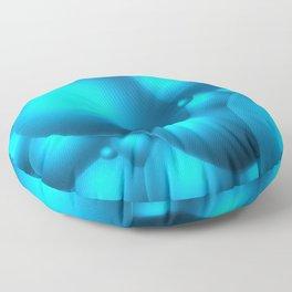 Blue Bubbles Floor Pillow