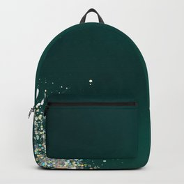 Green Holographic Glitter Gradient Pretty Fancy Sparkling Backpack