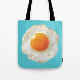 Fried Egg Polygon Art Tote Bag
