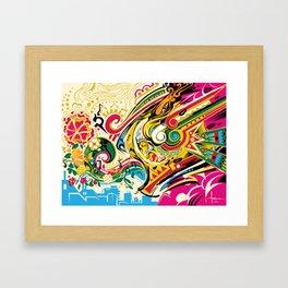 El Viento Azteca ~ The Aztec Wind Framed Art Print