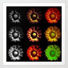 9 suns Art Print