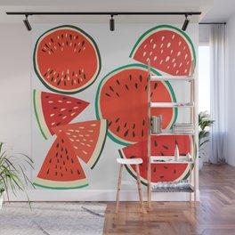 Sliced Watermelon Wall Mural