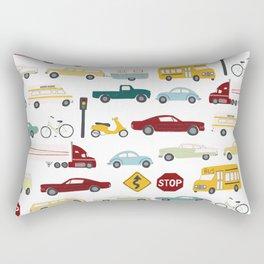 Beep Beep! Cars and Trucks Traffic Pattern Rectangular Pillow