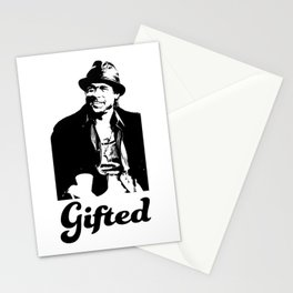 Gifted Micky Blk on Wht Stationery Cards