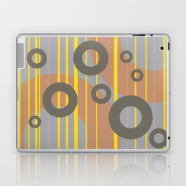 Rings and Lines in Yellow grey orange Colors Laptop & iPad Skin