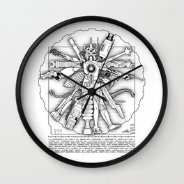 The Vitruvian Machine Wall Clock