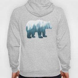 Misty Forest Bear - Turqoise Hoody