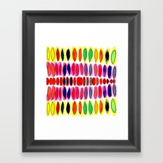 color pods Framed Art Print