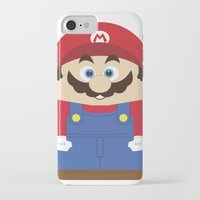 super mario iPhone & iPod Cases featuring Super Mario by Xiao Twins