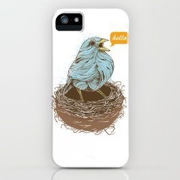 Twisty Bird iPhone Case