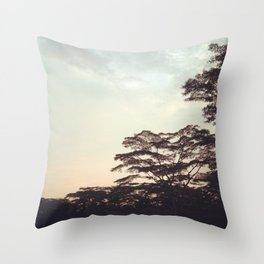 the faint sunset Throw Pillow