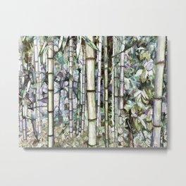 Bamboo grove in a botanical garden Metal Print