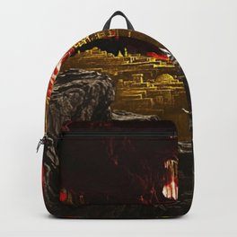 The Destruction of Sodom and Gomorrah Landscape Painting by Jeanpaul Ferro Backpack