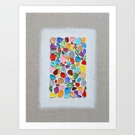 Mosaic Polka Daubs Art Print