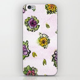 Watercolor Flower Pattern iPhone Skin