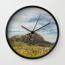 Tiny Mountain Town Wall Clock