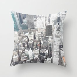During the day in new york Throw Pillow