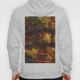 1920-Claude Monet-The Japanese Footbridge, Giverny-89 x 94 Hoody