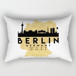 BERLIN GERMANY SILHOUETTE SKYLINE MAP ART Rectangular Pillow