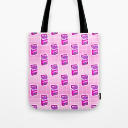 Loveboro cigarette packs pattern / girly stickers / pink grid Tote Bag