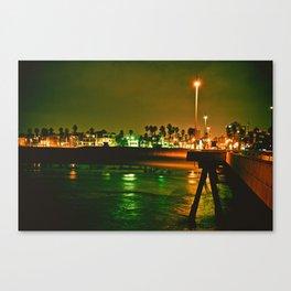 Venice Beach Night Canvas Print