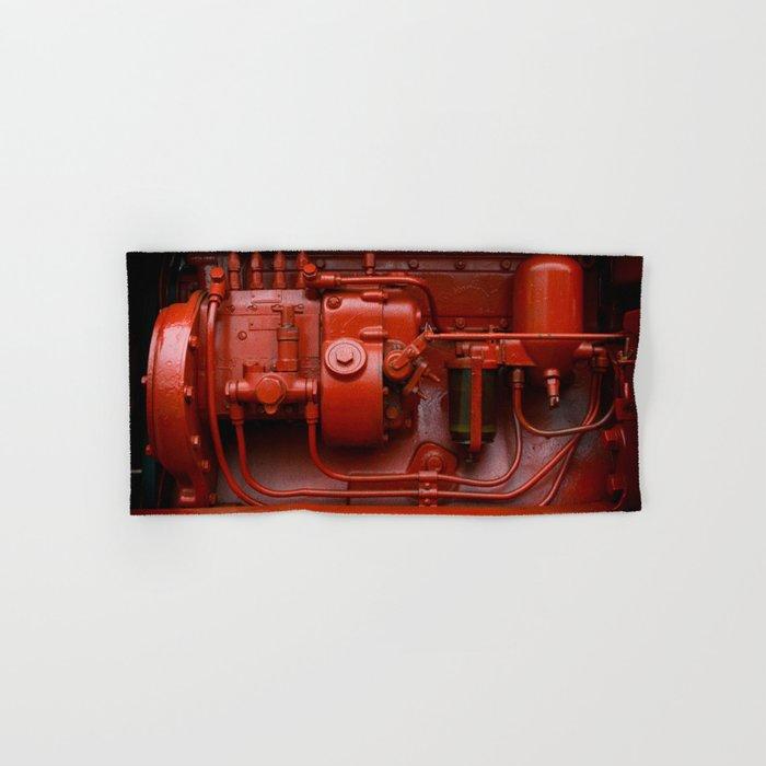 Red Tractor motor Hand & Bath Towel