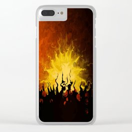 Trembling Sunset Clear iPhone Case