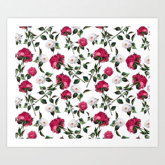 Summer Floral Pattern Art Print