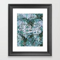 Namaste in Blue Framed Art Print