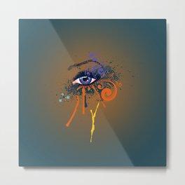 Grunge violet eye Metal Print