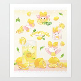 Lemonade Mousemoth Art Print