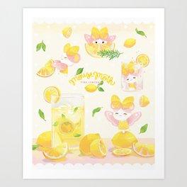 Lemonade Mousemoth Art Print