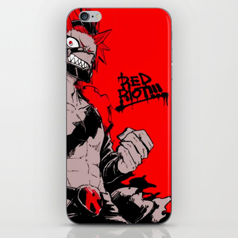 RED RIOT / KIRISHIMA EIJIRO - MY HERO ACADEMIA iPhone Skin by mangasekai