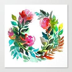 Rose Wreath Canvas Print