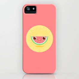 Watermelon with large nostrils iPhone Case