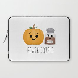 Pumpkin + Spice = Power Couple Laptop Sleeve
