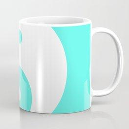 Yin & Yang (White & Turquoise) Coffee Mug