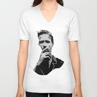 ryan gosling V-neck T-shirts featuring Ryan Gosling by Harry Martin