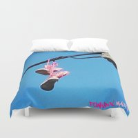 sneakers Duvet Covers featuring DISCO SNEAKERS  by Punkboy Marti