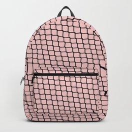 Chain link Black on Blush Backpack