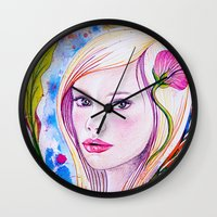 blondie Wall Clocks featuring Blondie by Yvonne Póo