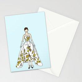 Audrey Vintage Retro Fashion 2 Stationery Cards