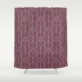Contemporary Bowed Symmetry in Mulberry Shower Curtain
