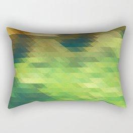 Green yellow triangle pattern, lake Rectangular Pillow