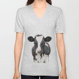 Cow Art Unisex V-Neck