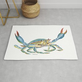 Colorful Blue Crab Rug