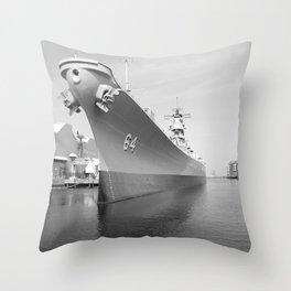 USS WISCONSIN photography Throw Pillow