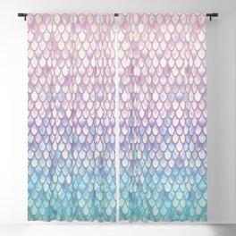 Spring Mermaid Scales Blackout Curtain