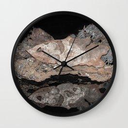 """Reflections"" - Metal Sculpture - Fish Wall Clock"